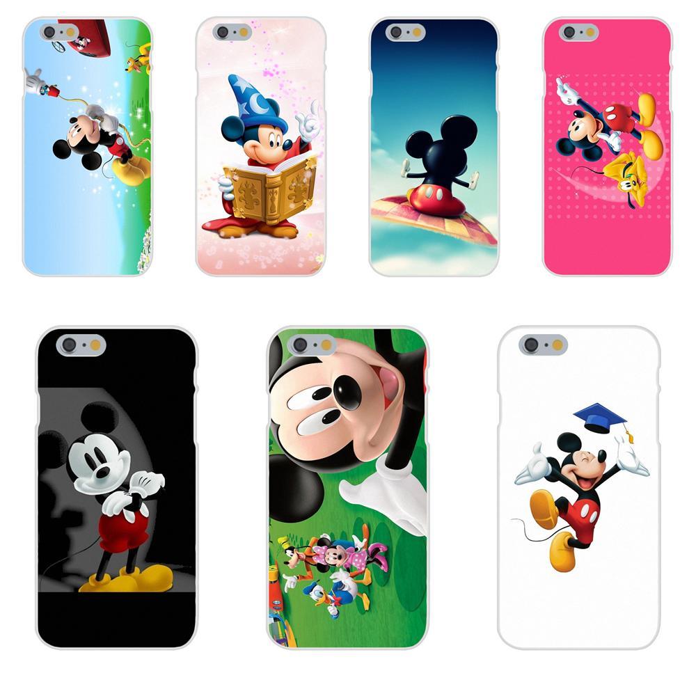 De la piel del TPU del cuadro Micky Mouse para Apple iPhone X XS X Max XR 4 4S 5 5C 5S SE 6 6S 7 8 Plus