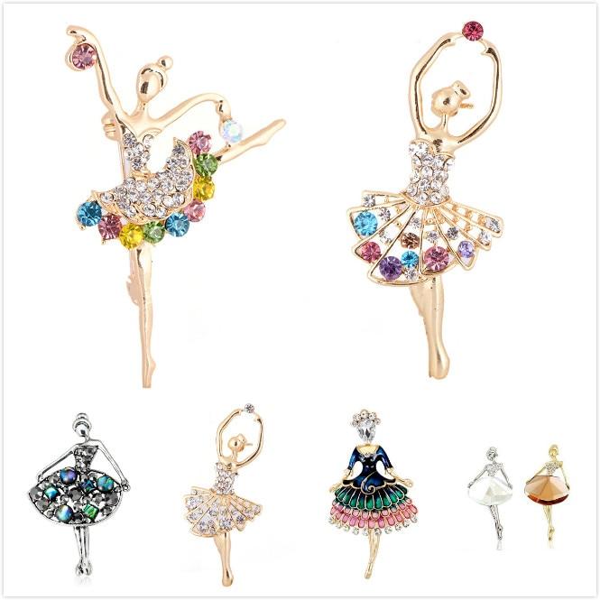 Esmalte anjo avião tesoura lápis ginástica bailarina feminino senhora broches menina broche pinos presente de natal