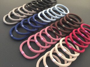 12pcs/Pack Thick Fashion Rubber Band For Women Girls Elastic Hair Rope Ties Hair Holders 8 Solid Colors Ponytials