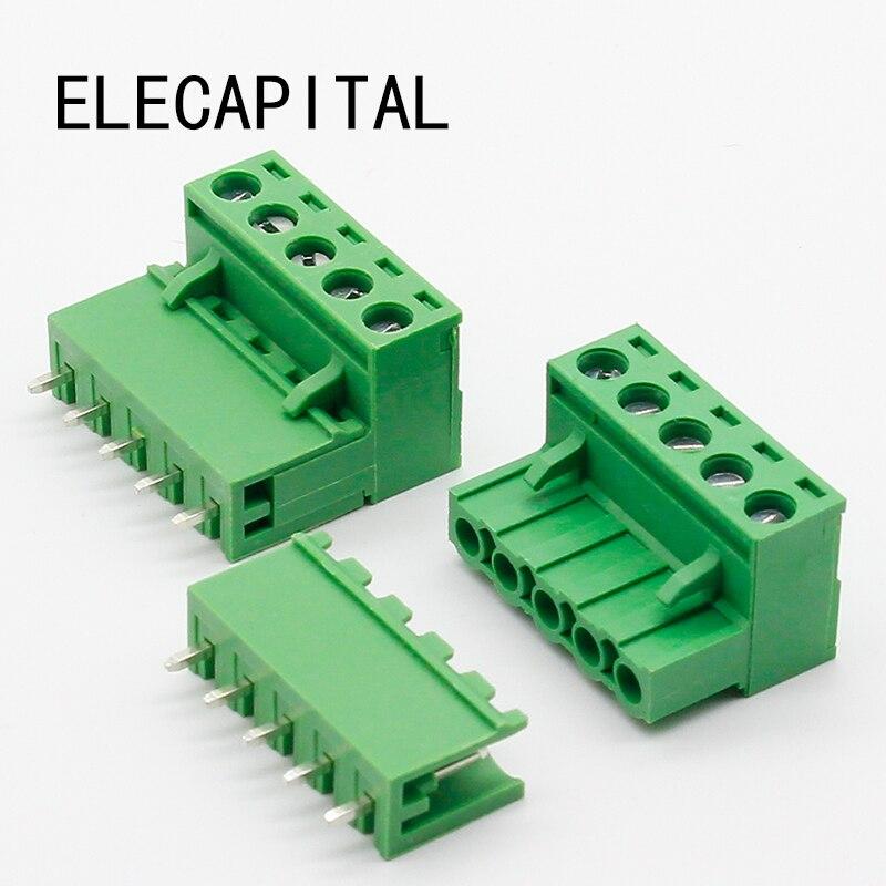 Бесплатная доставка 10 комплектов ht5.08 5-контактный разъем типа 300 В 10A 5,08 мм шаг разъем pcb винтовой клеммный блок