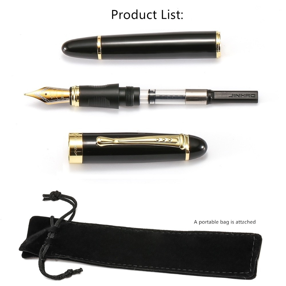 Jinaho 450 Luxury Fountain Pen Medium Nib Ink Pens for Writing Business Gift Office Signature Student School Supplies F293