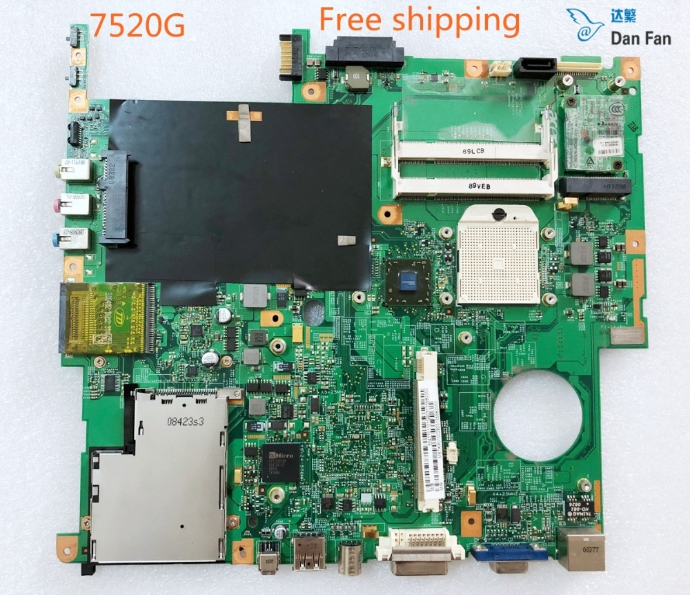 MBTKP01002 Para ACER TravelMate 7520G Laptop Motherboard POMONA 062442-2 48.4T701.021 Mainboard 100% totalmente testado trabalho