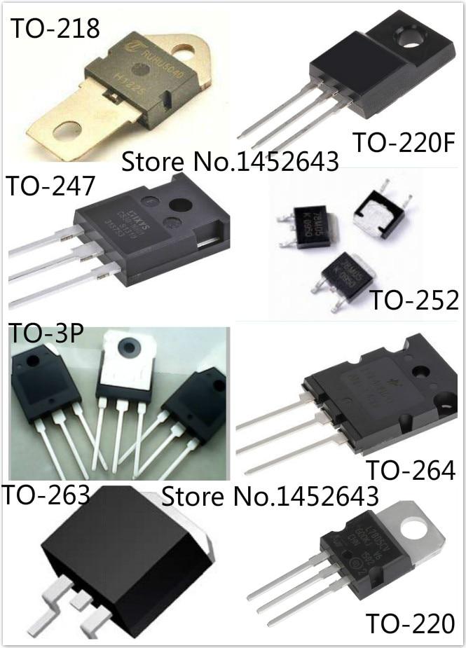20 pçs/lote SUM45N25-58 PARA-263/FCPF7N60 TO-220F/FQPF3N80 TO-220F/FHP100N07 PARA-220
