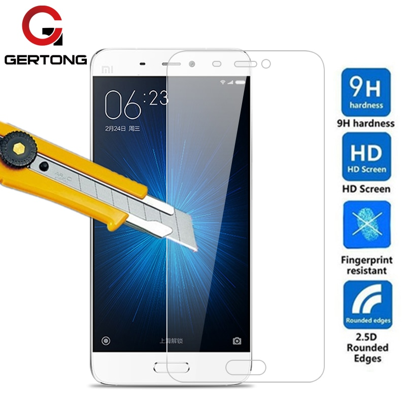 Protector de pantalla Gertong para Xiaomi Mi4 S Mi4i Mi4c Mi5 vidrio templado para Xiaomi Redmi 5A 3s Note 3 S Pro 2 4A película de la cubierta del teléfono