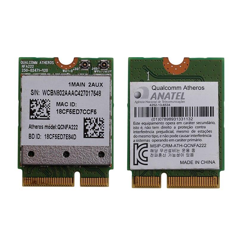 802.11n/b/g/n 2,4 QCNFA222/5GHz WiFi Bluetooth PCIe medio tarjeta Mini para Atheros