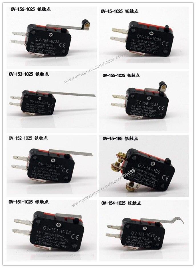 Серебряный контакт! Ограничительный переключатель микропереключатель V-156-1C25 V-155-1C25 V-154-1C25 V-152-1C25 V-15-1C25 V-153-1C25 V-151-1C25