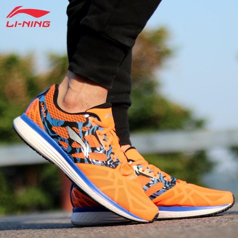 Li-ning zapatos para correr para hombre, forro transpirable de estrella de velocidad, zapatillas de deporte Li Ning, cojín ligero, zapatos deportivos ARHM021 XYP544