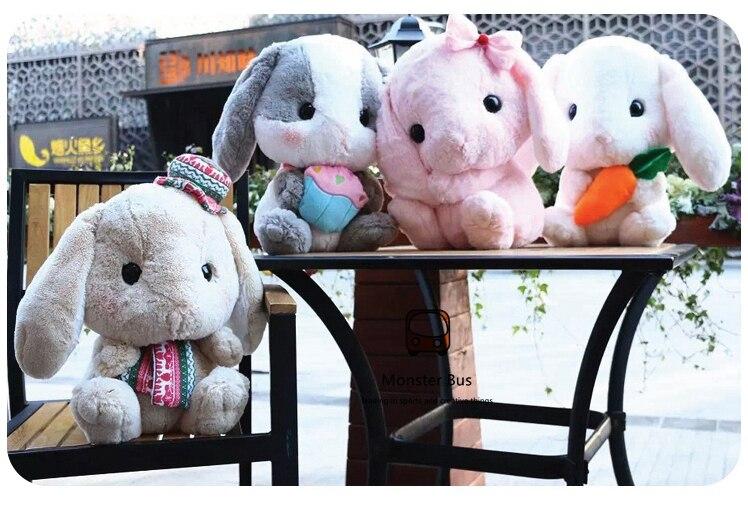 40 centimetri Carino Molle Lop Coniglio Lolita Coniglio di Peluche Cosplay Allinterno Della Principessa Dolce Bambola Loppy Bunny Fiocco Rosa Timido Bunny regalo dei bambini