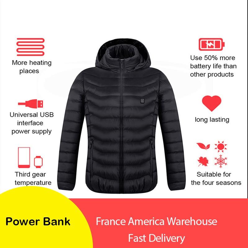 Men's Fleece Jackets Waterproof Winter Heated Jackets Thermal Heating Clothing Skiing Coat Men Hiking Jacket red heated vest