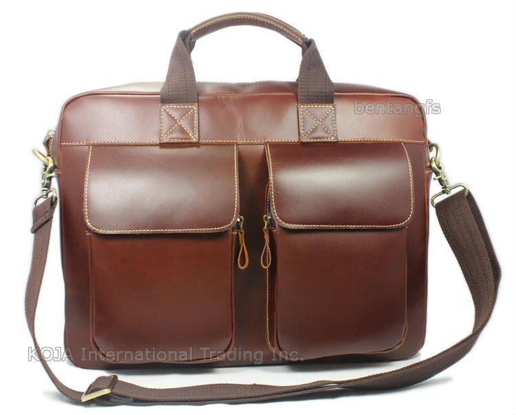 Luxury Italian Genuine Leather briefcase men leather laptop case portfolio business bag 15laptop male attache