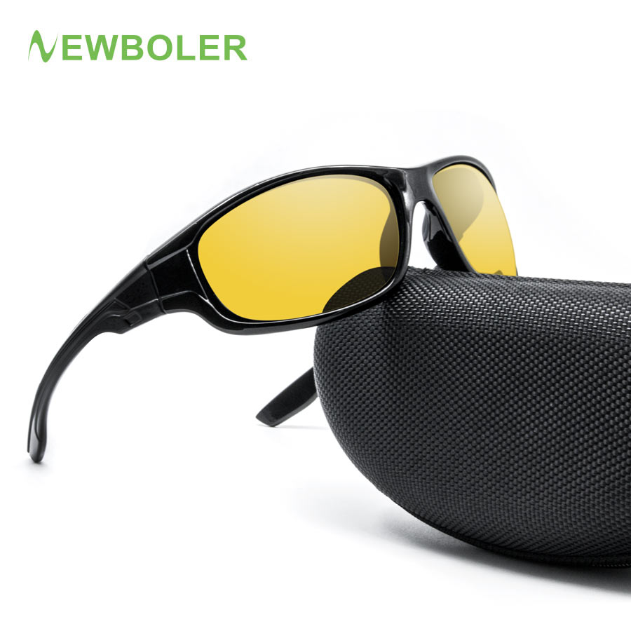 Поляризованные велосипедные очки NEWBOLER, желтые, коричневые цветные линзы для мужчин и женщин, UV400, очки для велоспорта, уличные спортивные со...