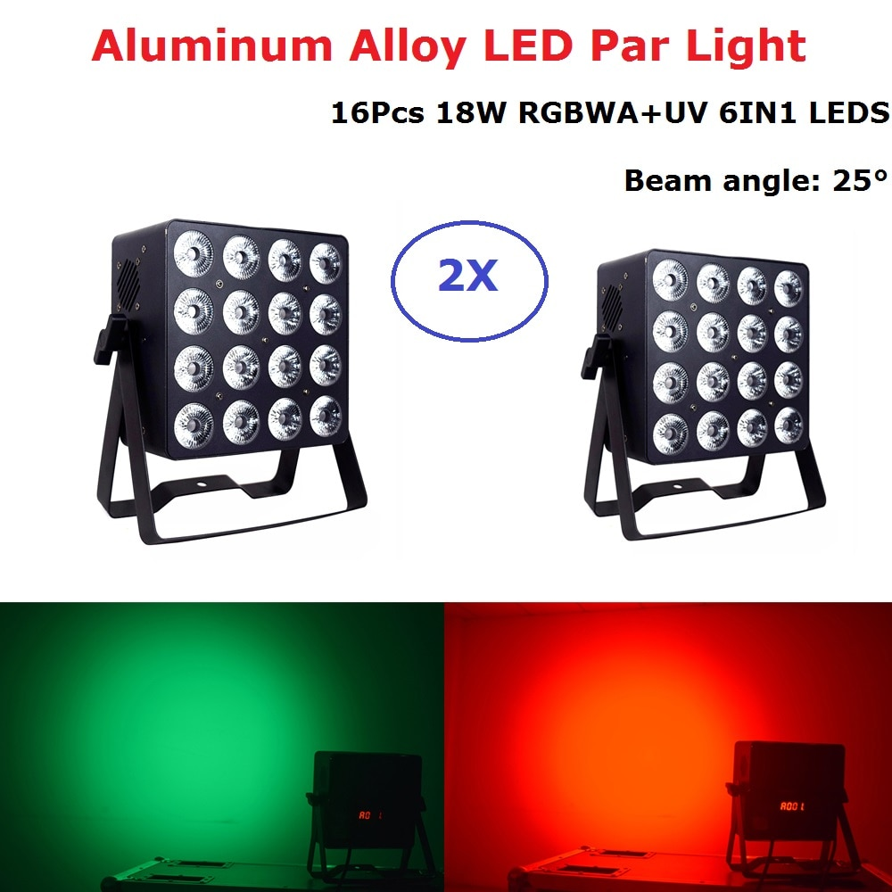 LED Par Light 16X18W RGBWA UV Par LED Stage Light DMX 512 Controller For Disco Dj Projector Machine Party Christmas Decoration