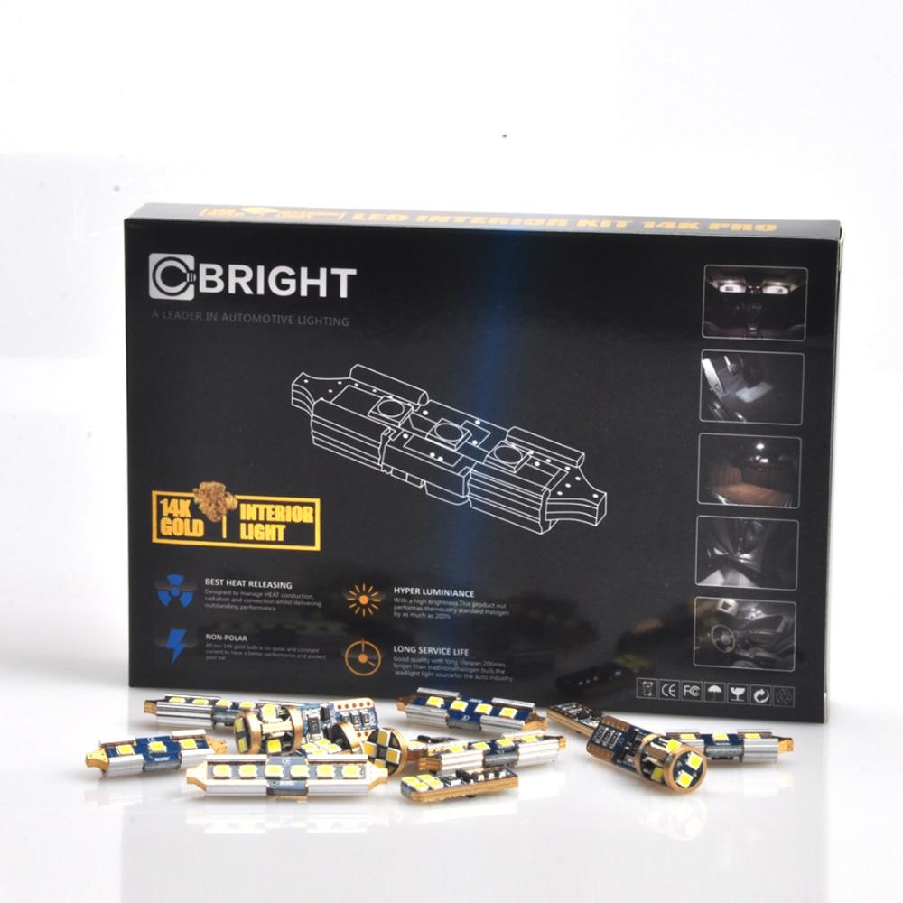 8 Uds Canbus Xenon blanco 14K oro Interior LED luz Kit para 2012 para presentar (9th Generation) Civic con Samsung 3030 LED