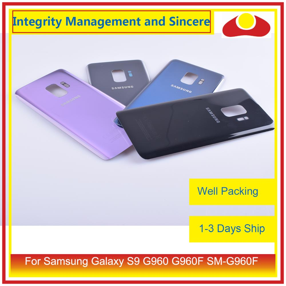 50Pcs/lot For Samsung Galaxy S9 G960 G960F SM-G960F Housing Battery Door Rear Back Glass Cover Case Chassis Shell enlarge