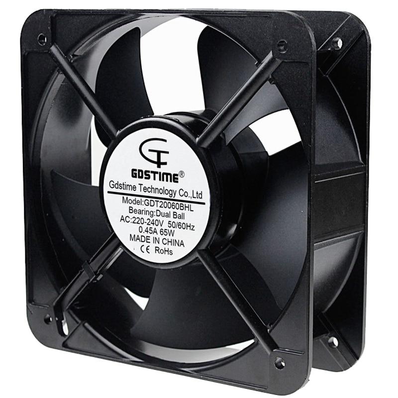 1PCS Gdstime 20cm 200mm AC 220V 20060 Dual Ball Bearing Case Cooling Fan