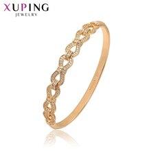 Xuping mode bracelet nouveauté de haute qualité bijoux de luxe plaqué or couleur bracelet saint valentin cadeau 52173