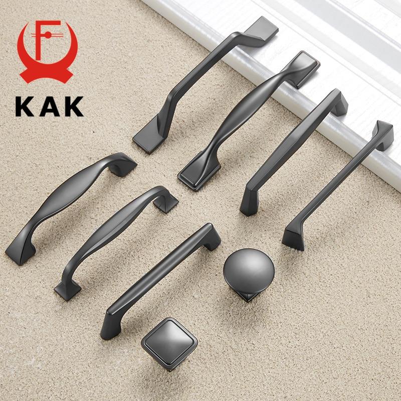 KAK Zinc Alloy Pearl Gray Cabinet Handles Drawer Knobs Kitchen Cupboard Door Pulls Fashion Furniture Handle Cabinet Hardware