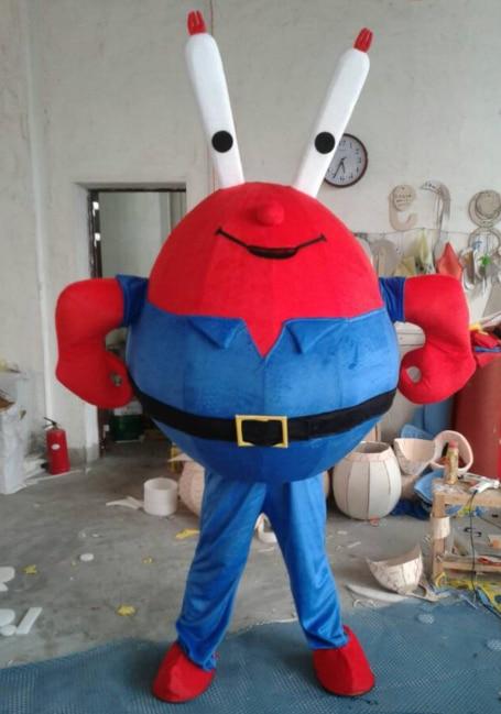 Disfraces de Mascota de cangrejo rojo, ropa de dibujos animados Unisex, disfraz personalizado de Sr. Crab, tema de Cosplay, disfraz de Carnaval de Mascota, vestido de fiesta elegante