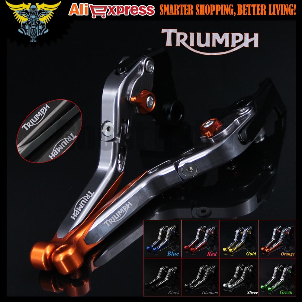 Оранжевый + титан CNC регулируемые складные выдвижные рычаги сцепления для мотоцикла Triumph SPEED TRIPLE 2008 2009 2010