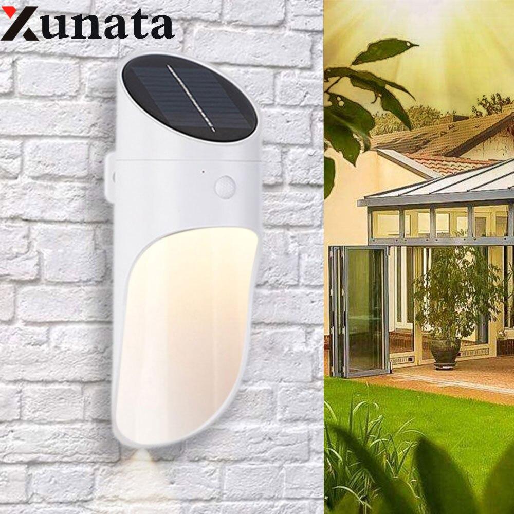 6V 15LED lumière solaire micro-ondes capteur applique extérieure étanche IP65 pour voie jardin clôture mur lumière éclairage extérieur