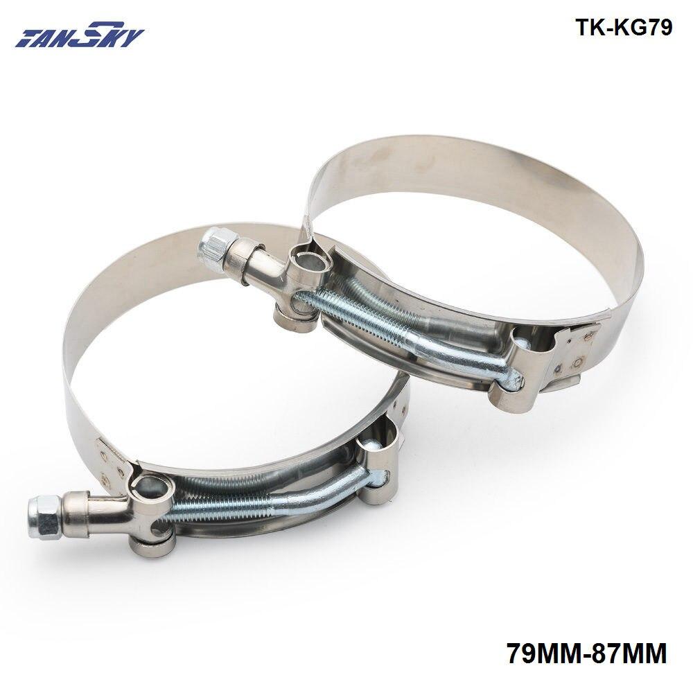 Acoplador de manguera TURBO de silicona de 3 pulgadas (79MM-87MM) KIT de SUPER abrazadera de perno T TK-KG79