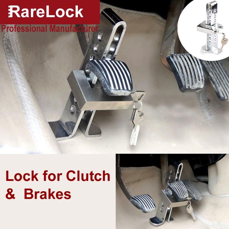 Rarelock MS537 Car Cultch Brakes Lock Steel Padlock for Car-styling Car Anti theft Truck Safety DIY Hardware i