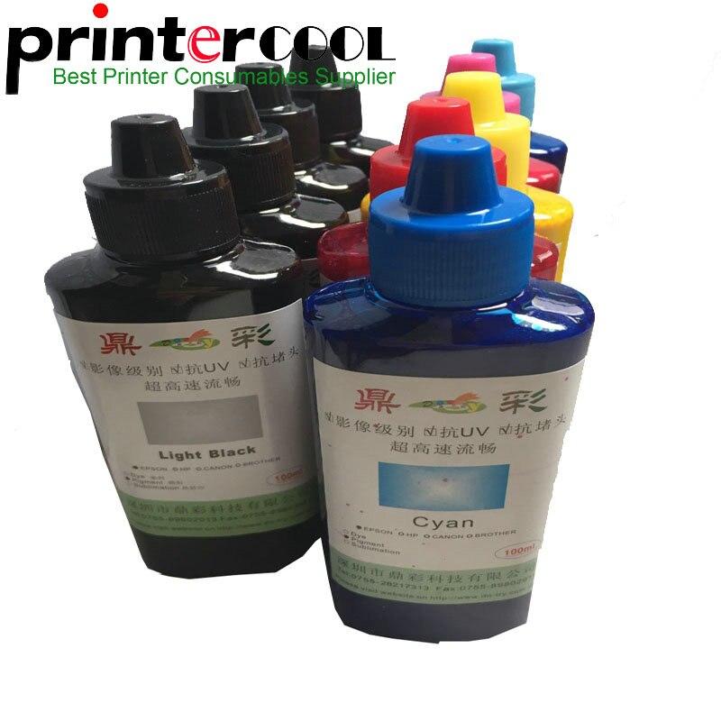 Tinta de pigmento Universal Einkshop, 9 colores, 100 ML/botella para Epson SureColorP600 P800 Stylus Pro3800 3880, pigmento de recarga de tinta para impresora