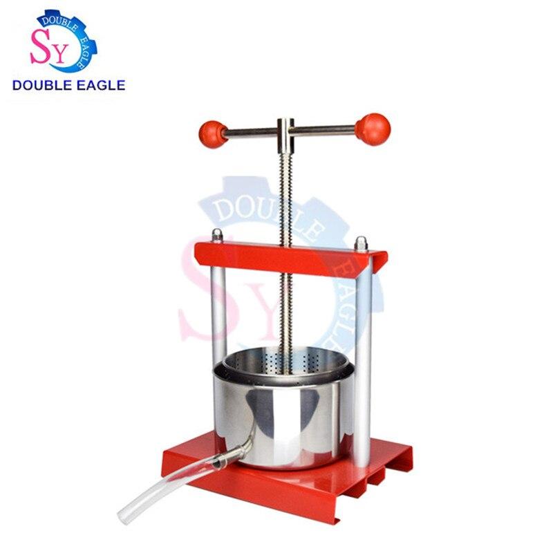 Wholesale price 3L Hand press Craft Fruit Grape Crusher Apple Crushing Machine manual Juicer Press Grinder Mill