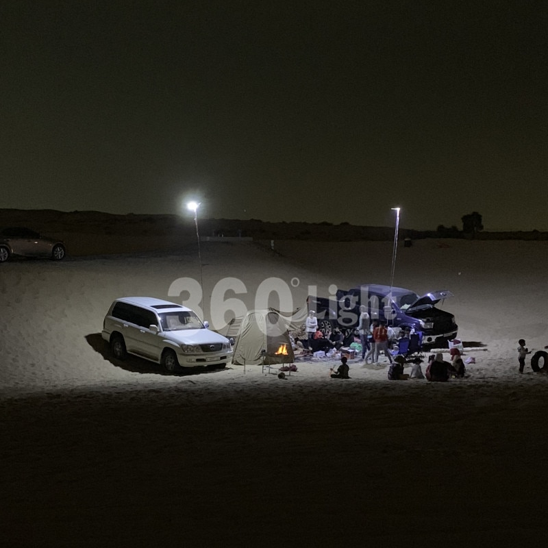 360 Licht Led Camping Licht Oplaadbare Draagbare Dc 12V Led Buiten Cob Camping Verlichting Voor Drive Travel Night vissen