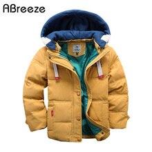 Abreèze-veste à capuche pour enfants   Manteau chaud et décontracté pour garçons, Down & Parkas, 4-10T, résistant et résistant, pour garçons