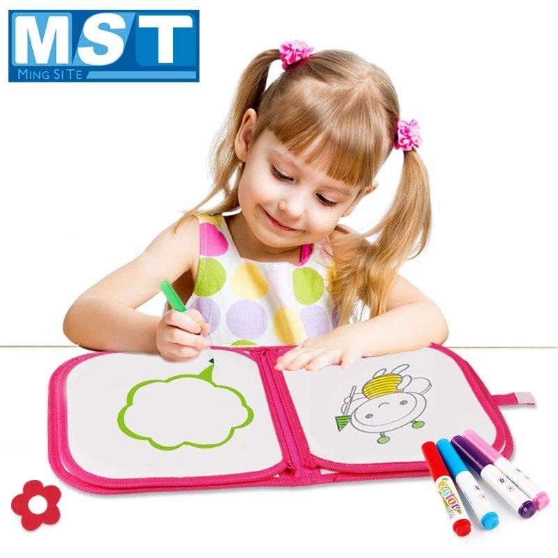 Alfombrilla lavable, libro de dibujo de agua mágico, bolígrafo mágico de acuarela, tablero de dibujo de tela para niños, juguetes educativos creativos de pintura para niños