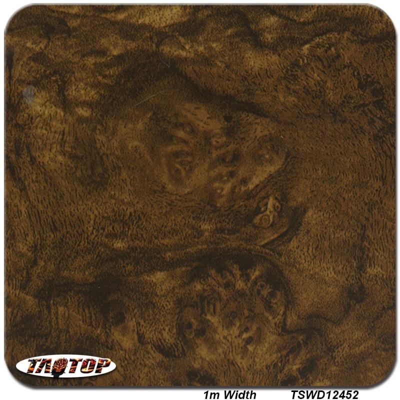 Itatop 1M * 10M TSD12452 patrón de madera marrón hidro gráficos líquido imagen H2O inmersión película de impresión de transferencia de agua
