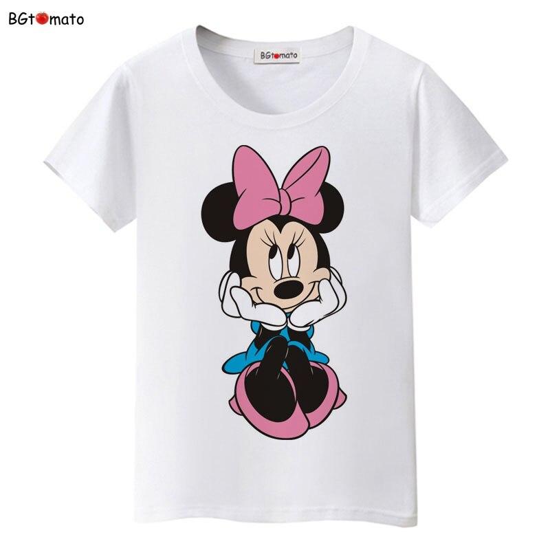 BGtomato New!! beautiful women Mickey T-shirt summer super cute cartoon shirts Brand tees good quality comfortable casual tops