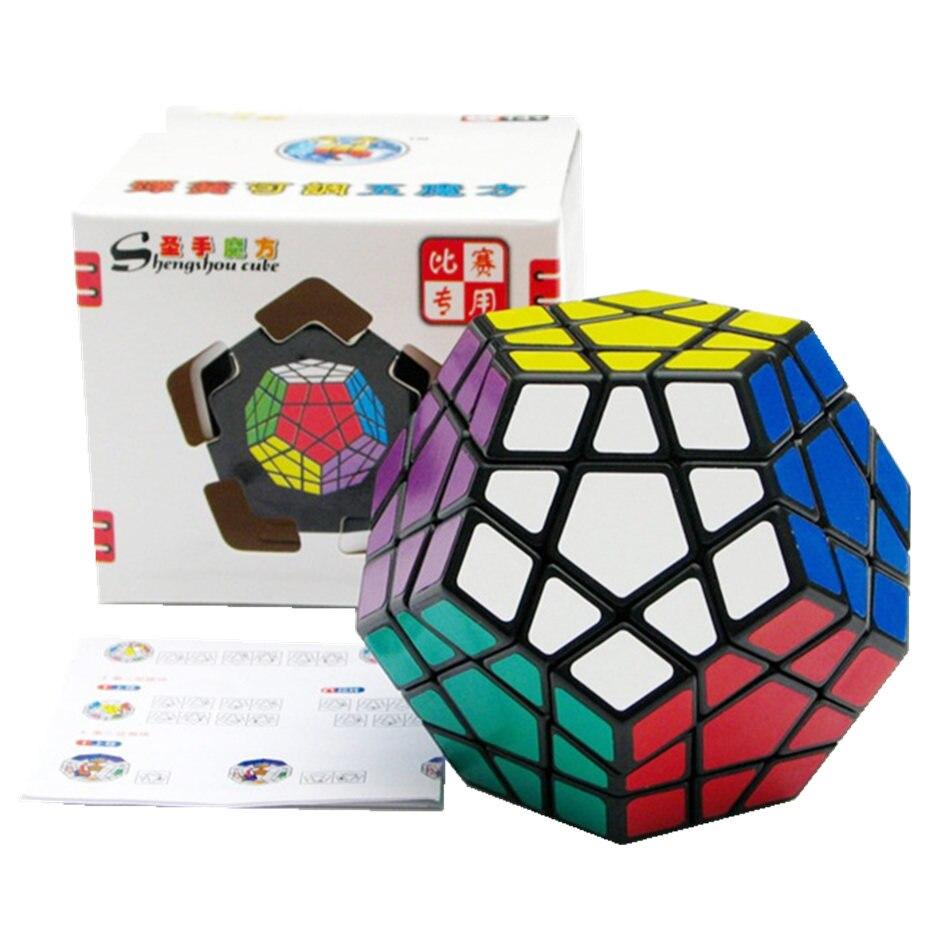 3x3 Shengshou Megaminx Cubo Adesivo Branco Preto 3x3x3 3 Camada Megaminx Magic Cube Velocidade profissional cubo Enigma do Brinquedo Para Crianças