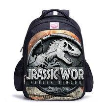Children's Pop Animal Print Backpack Jurassic Dinosaur World Kingdom Girls Boys Children's School Bag