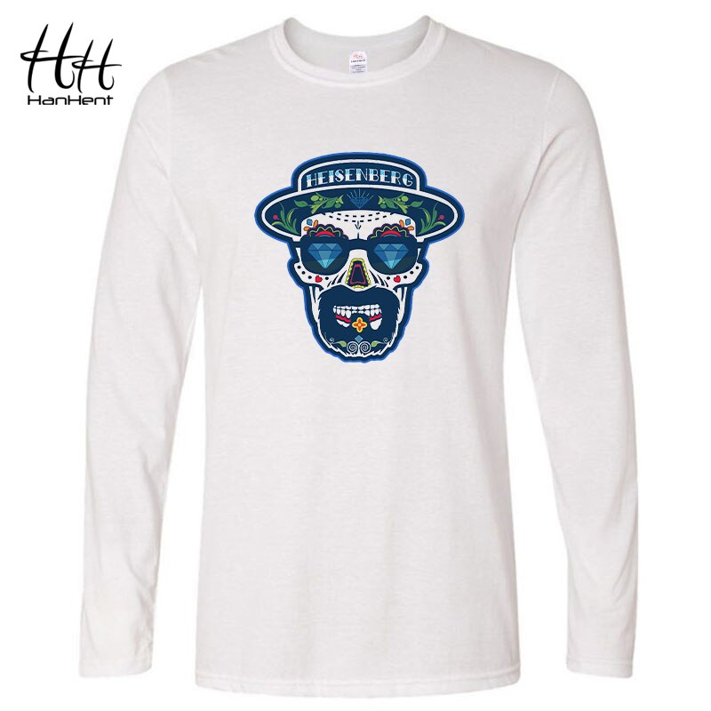 HanHent Breaking Bad Heisenberg camiseta para hombre 2019 primavera Casual hombres de manga larga de algodón camisetas divertidas Rock camisetas largas