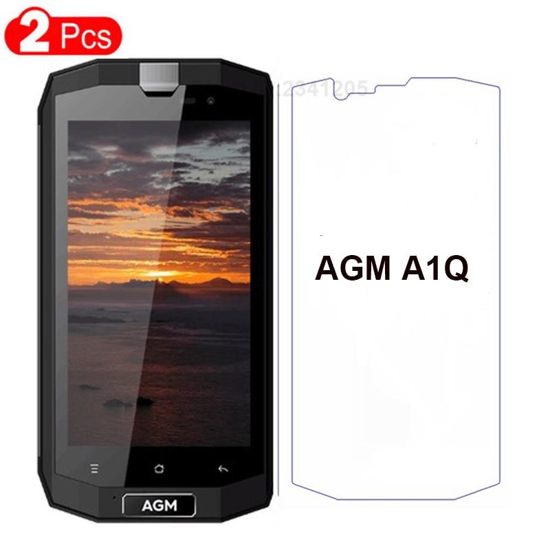 Protecteur d'écran pour AGM A1Q, 2 pièces, verre de protection transparent 9H Anti-coups pour AGM A1Q Film antidéflagrant pour téléphone portable