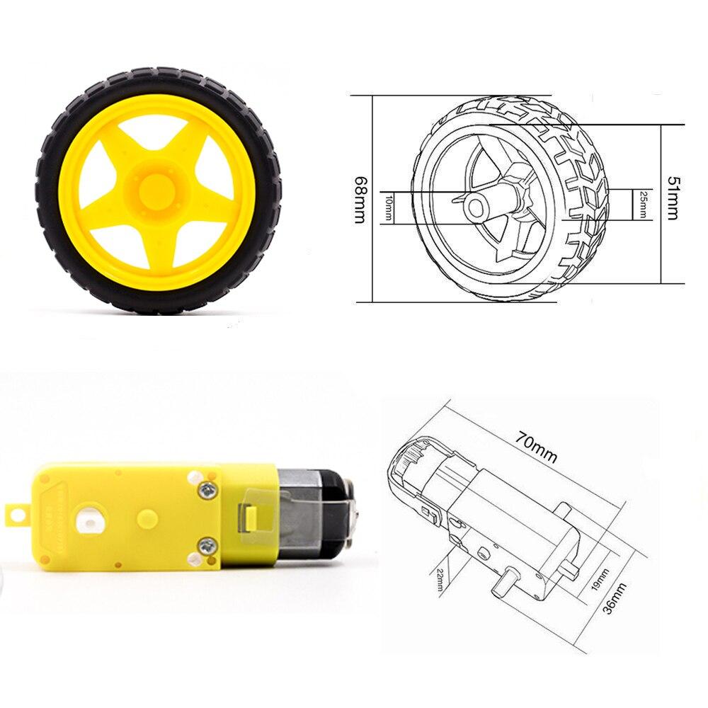 Мотор TT Motor, умный автомобиль, робот, Ше