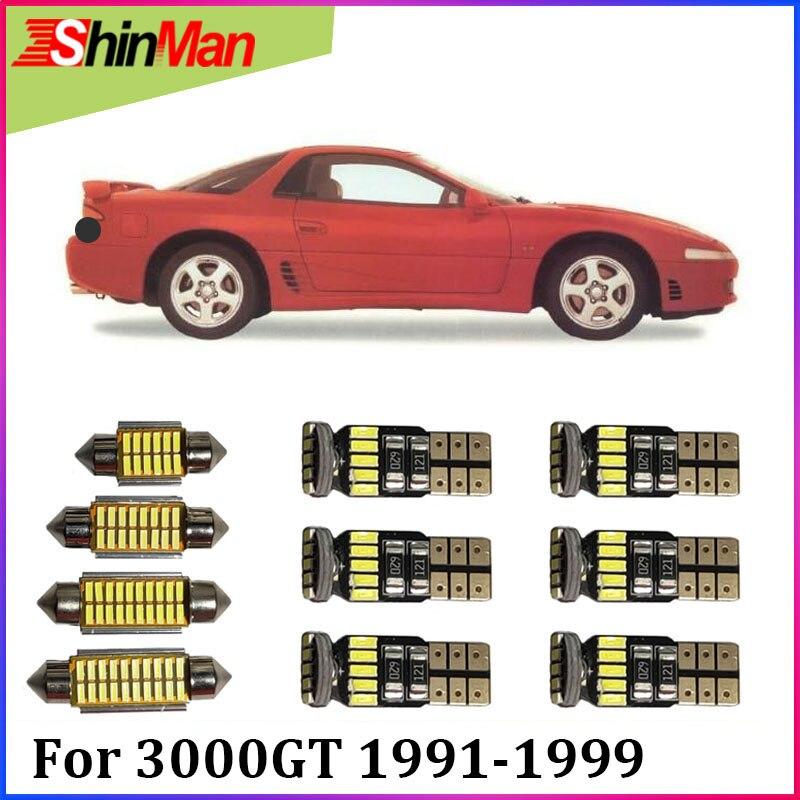 ShinMan 10x LED AUTO Licht Auto LED Auto beleuchtung Für Mitsubishi 3000 GT LED LED Innen Licht kit 1991 -1999 zubehör