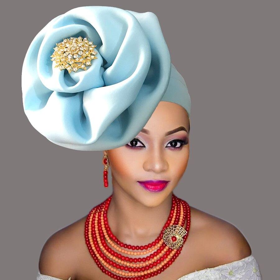 Cabeça africana envolve chapéu para mulher africano headtie gele já amarrado turbante
