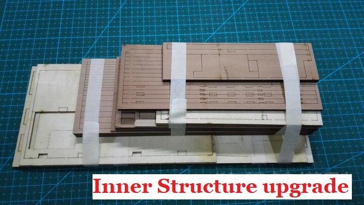 Traje de decoración de actualización de estructura interior de lujo para la escala 1/48 USS Bonhomme sección de barco Richard (no incluye el envío)