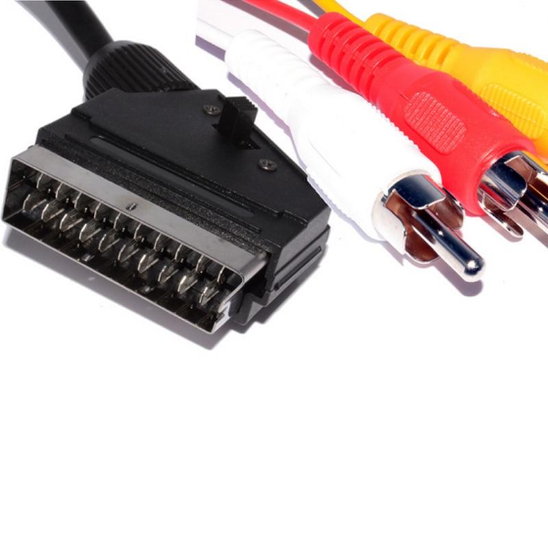 Conector Scart de 21 pines de 1,5 m para conector de teléfono,...