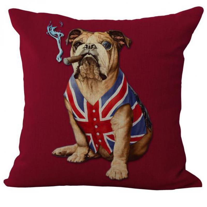 2016 Американский и британский флаги, индивидуальная льняная наволочка для собаки, наволочка для подушки, поставка с фабрики