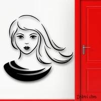 Autocollant Mural amovible  belle femme  Sexy  pour chambre dadolescente  Style de mode  Art capillaire  decoration de la maison  H006
