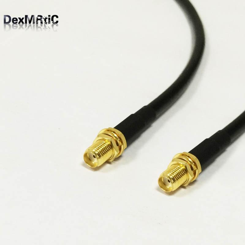 RG58-adaptateur câble Coax   Adaptateur femelle, cloison jack, 20 pouces, pour routeur sans fil, vente en gros, nouveau