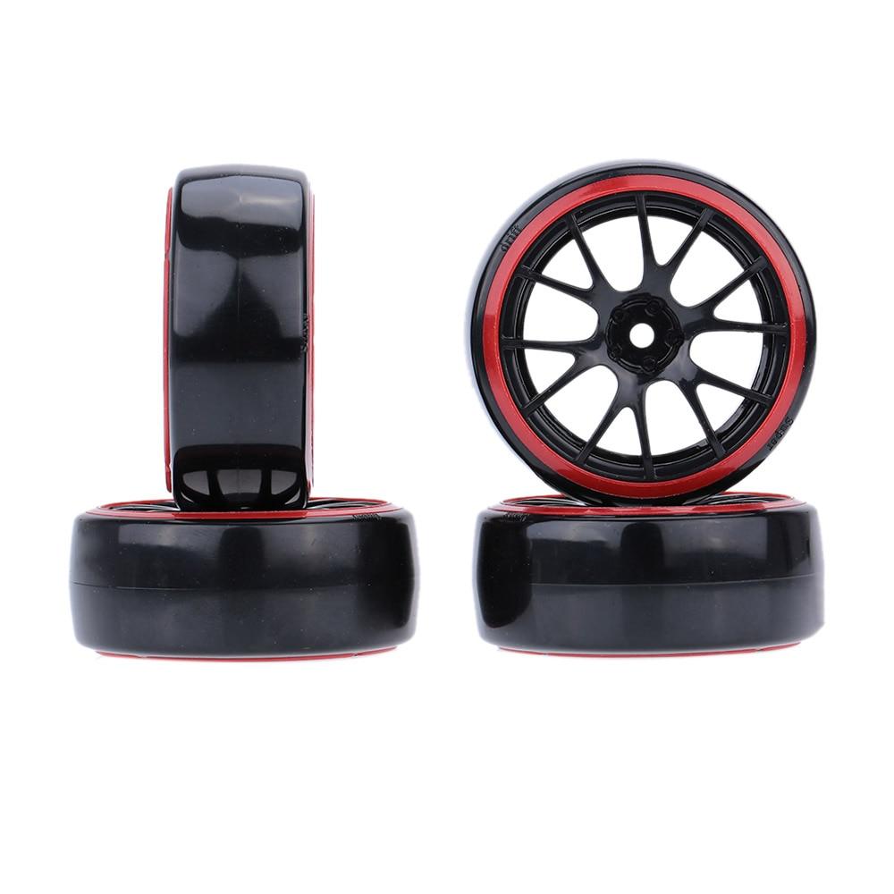 4Pcs/Set 1/10 Drift Car Tires Hard Tyre for Traxxas Tamiya HPI Kyosho On-Road Drifting Car