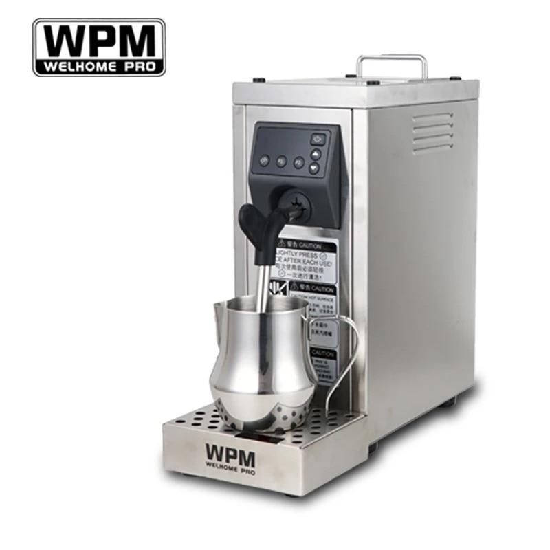 200-240vfull التلقائي باخرة الحليب المهنية مع إعداد درجة الحرارة/الفولاذ المقاوم للصدأ آلة الحليب frother WPM WELHOME برو