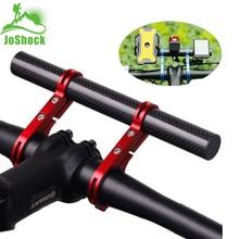 JoShock vélo guidon étendu 20cm Support vélo phare Support lanterne lampe Support en alliage daluminium fibre Support