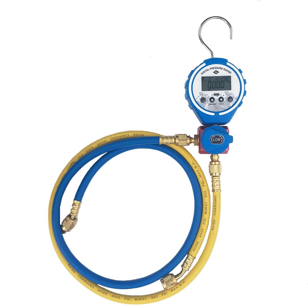Medidor medidor de presión de vacío Digital de refrigeración de manómetro probador de temperatura HVAC