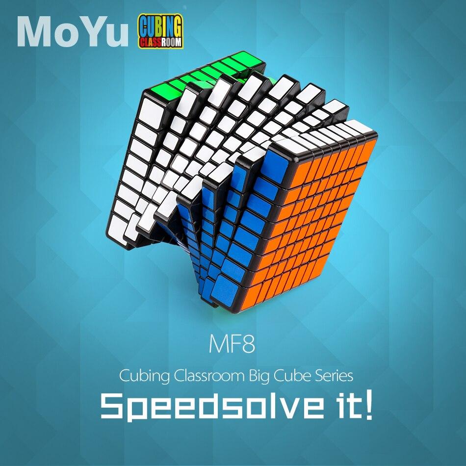 Cubo mágico MOYU MF8 8*8*8, rompecabezas de Velocidad Profesional, cubo 8x8, juguetes educativos, regalos para el desarrollo intelectual de los niños
